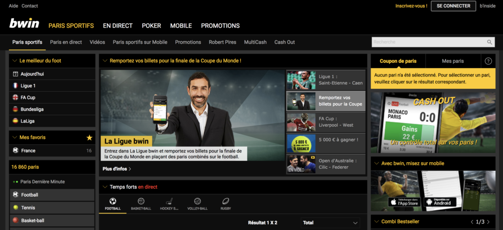 bwin paris sportifs android